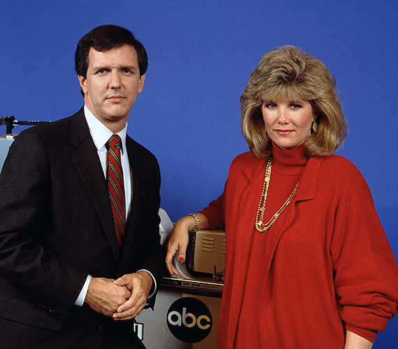 GOOD MORNING AMERICA - 9/21/87 CHARLES GIBSON, JOAN LUNDEN (ABC/Fred Watkins)