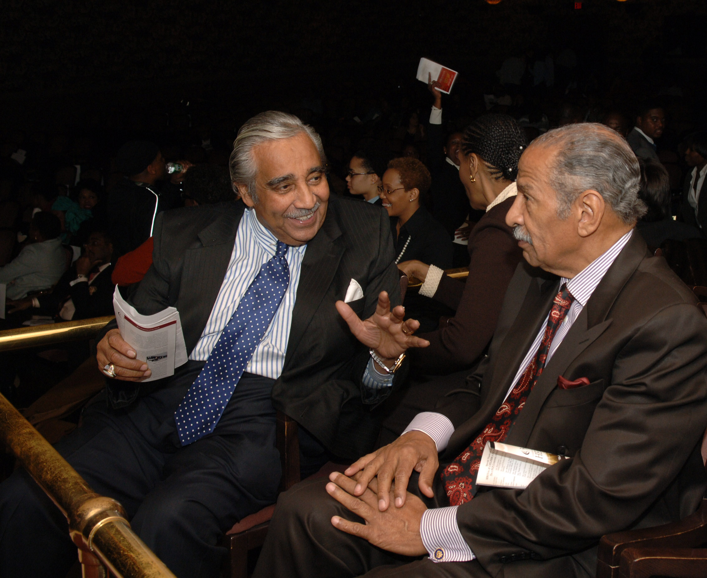 Congressman Charles Rangel  and Congressman Conyers at the Heritage Celebration in D.C. Lincoln Theatre.   _Fred Watkins, JPC Photographer