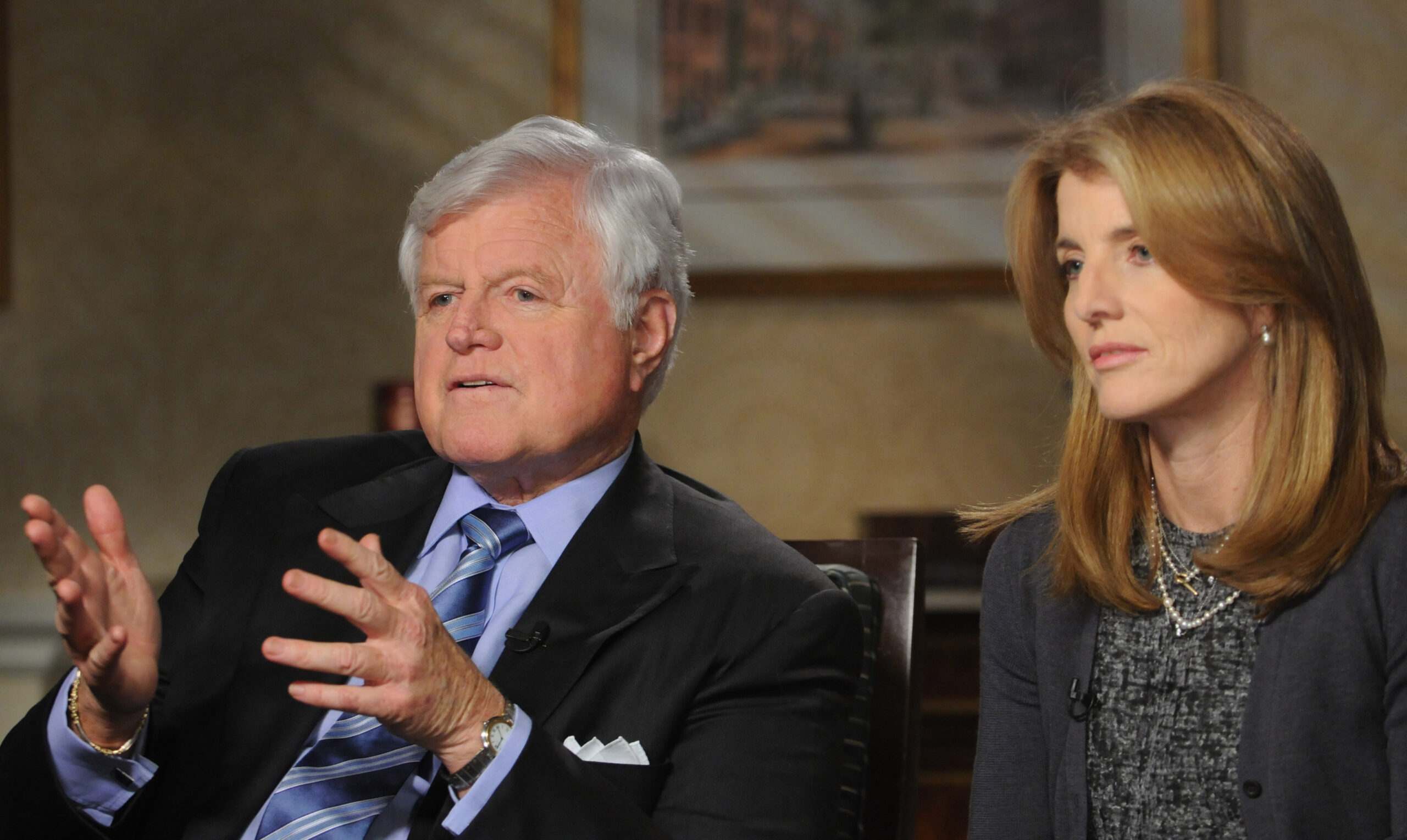 ABC World News with Charles Gibson Caroline Kennedy and Sen.Ted Kennedyi